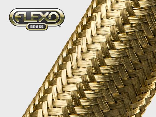 Gaine Tressée en Laiton Flexo® Brass